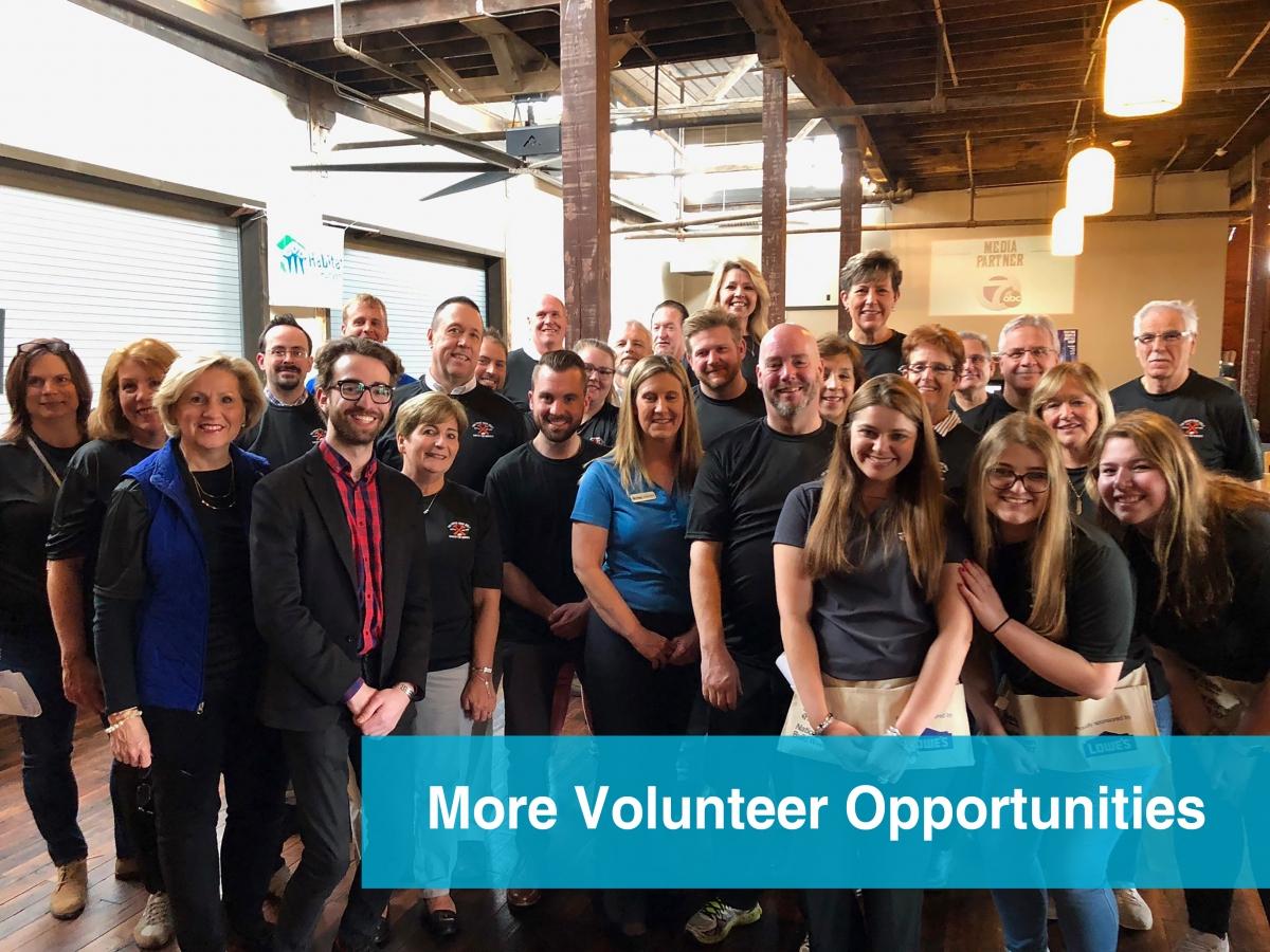 More Volunteer Opportunities
